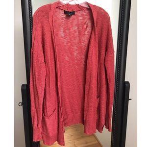 TAHARI Knit Cardigan | Rust